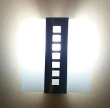 Concealed Wall Light Fitting Stainless Steel Frosted Glass Square Curved Shade