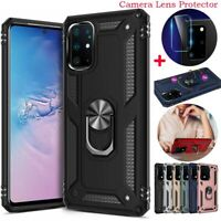 Case For Samsung Galaxy S20 Plus/S20 Ultra Ring Stand Case+Camera Lens Protector