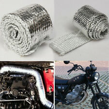 1M MOTORCYCLE RACING HEADER EXHAUST DOWN PIPE PROJECT  SILVER HEAT COVER WRAP