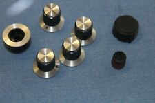 7 ASSORTED Knobs - Radio Stereo Ham Electronic Test Equipment  .125  1/8