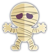 "Mummy Kid Costume Cartoon Car Bumper Sticker Decal 4"" x 5"""