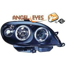 Par faros delanteros TUNING CITROËN SAXO 1999-03 negros anillos ojos de angel