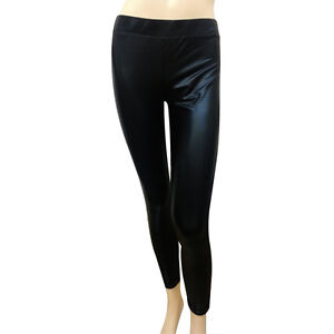 Always USA Soft Leggings Shinny Black Polyester - D80321A  Retail $39.95