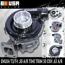 BLACK EMUSA T3/T4 Hybrid Turbo Charger .50 A/R Compressor .63 A/R Turbine Wheel