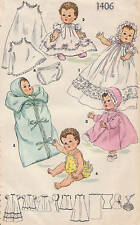 "1406 Vintage Chubby Baby Doll Pattern - Size 13.5"" - Year 1948"