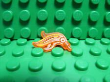 Lego NEW trans red / orange plume triple feather X 3
