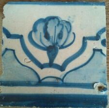 Antique ceramic wall tile, portuguese handmade