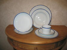 GUY DEGRENNE *NEW* FOLIA BLEU 1 Assiette creuse aile 22,5cm Blue Plate