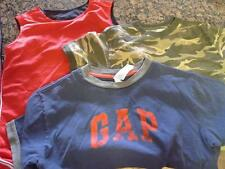 Boys Short Sleeved T Shirt Tank Lot of 3 Size S Gap Old Navy Ships Free