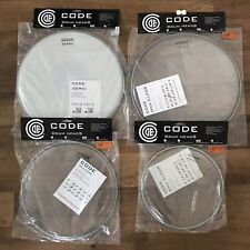 "CODE DNA Clear Drum Heads - Fusion Tom Pack 10"" 12"" 14"" + 14"" Zero Coated Snare"