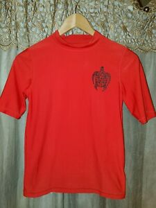 Boy's Large (12/14) Black/Red w/Black Sea Turtle Short Sleeve Top by Cherokee