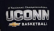 UCONN Huskies Women's Basketball 10 National Championships Men's Size Large