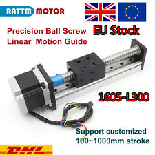 【EU】 CNC Linear Slide Stroke 1605 300mm Z Axis Ball Screw + Nema23 Stepper Motor