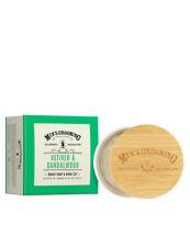 Scottish Fine Soaps Mens Vetiver & Sandalwood Shave Shaving Soap & Bowl Set 100g