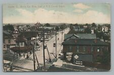 Galion OH New York Central RR Depot View—Antique OHIO Hand-Colored Rare 1909