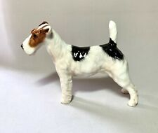 Vtg. Royal Doulton England Bone China Standing Fox Terrier Dog Hn 1014