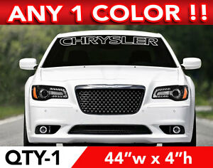 """CHRYSLER OUTLINED  WINDSHIELD DECAL STICKER 44""""w x 4""""h ANY 1 COLOR"""