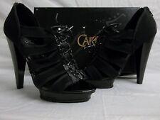 Carlos Santana Size 8 M Zealous Black Open Toe Heels New Womens Shoes