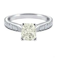 GIA certified Radiant Cut Diamond Engagement Ring Vintage Style 1.75 CTW  14K