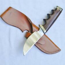 GERBER USA 1970th 425 Hunter-Skinner knife African Zebrawood handle, orig sheath