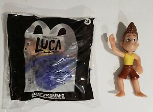 McDonalds 2021 set of 2 LUCA #3 Alberto SCORFANO new and opened Happy Meal Toy