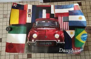 # affiche publicitaire garage RENAULT dauphine 1955