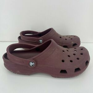 Crocs Men's Slip On Casual Classic Clogs Red Maroon Burgundy Size 11