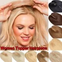 Russian 100% Remy Human Hair Silk Base Women Topper Hairpiece Top Piece Blonde D