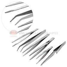 Stainless Steel Tweezer 6 Piece Set Jewelers Hobby Hand Watch Tools Precision