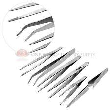 Stainless Steel Tweezer 6 Piece Set Jewelers Hobby Hand Watch Tools Precision