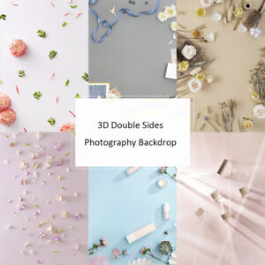 3D Flower Double Sides Photography Backdrop Background Paper For Food Cosmetics