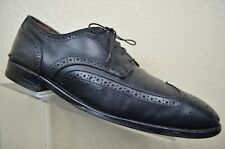 Allen Edmonds Lombard Black Leather Wingtip Dress Full Brogue Oxford Men's 11 D