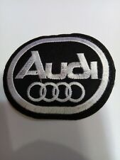 "Audi Logo/ Emblem Embroidered Iron On Patch! 3"" x 2.5""  Nice A1"