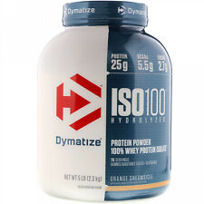 Dymatize Nutrition, ISO 100 Hydrolyzed, 100% Whey Protein Isolate, Orange 5 Lbs