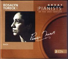 Rosalyn TURECK 1: GREAT PIANISTS OF THE 20TH CENTURY 2CD  BACH 6 Partita 825-830