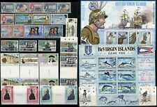 VIRGIN Islands BRITISH COMMONWEALTH Colony Postage Stamp Gutter Pairs Used MNH
