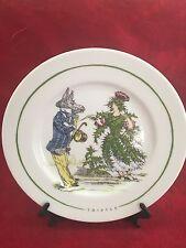 The Monkey And The Peddler Liz Ross Grandville Thistle Plate 8.5 in diameter