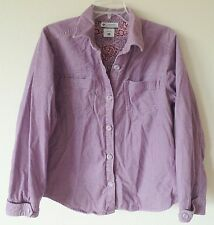 Columbia Sportswear Womens Large L Light Purple Corduroy Jacket Button Front GUC