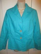 TALBOTS ~TURQUOISE BLUE~ 3 BUTTON BLAZER Jacket W's 10 BEAUTIFUL LN