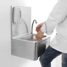 More details for commercial stainless steel knee operated hand wash basin sink &tap 400*330*570mm
