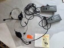 Lot Of 2 Maxon Hands-Free Or Push To Talk Communicator 49-Hq Fm Two-way Radio