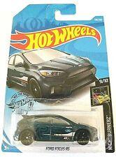 2019 Hot Wheels Ford Focus Rs #139/250 [Dark Blue] Nightburnerz New Mint on card