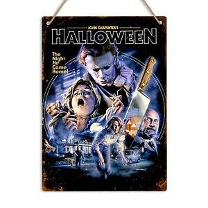HALLOWEEN Metal Tin Wall Sign Plaque Man Cave John Carpenter Myers Horror Film