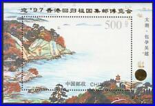 China Prc 1995 Views S/S overprinted Sc#2586a Mnh Lighthouse