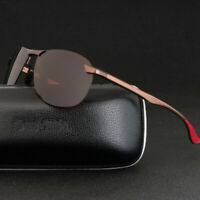 Aluminium HD Polarized Photochromic Sunglasses Men Chameleon Driving Sun Glasses