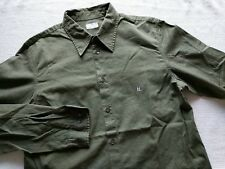 Helmut Lang HL Italy vintage 1998 90's green military work shirt size 48