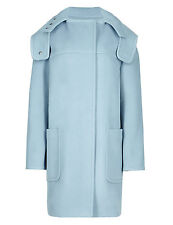 M & s collection best of british femmes laine pure bleu duffle-coat