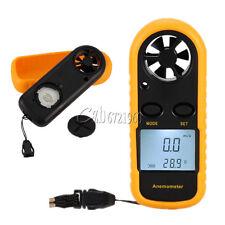 Digital LCD Anemometer Wind Speed Meter Tester Temperature Gauge Thermometer
