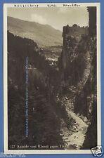 Schweiz Viamala Via Mala Aussicht Känzeli nach Thusis um 1920 Schlucht Rätien