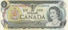 BANK OF CANADA 1 DOLLAR REPLACEMENT 1973 IV1689360 RADAR NOTE - UNC